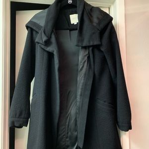 Michelle Mason women's black wool coat